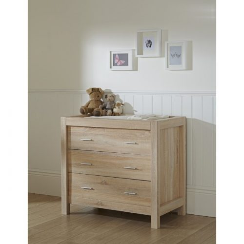 Tutti Bambini Milan Chest Changer Light Oak 2