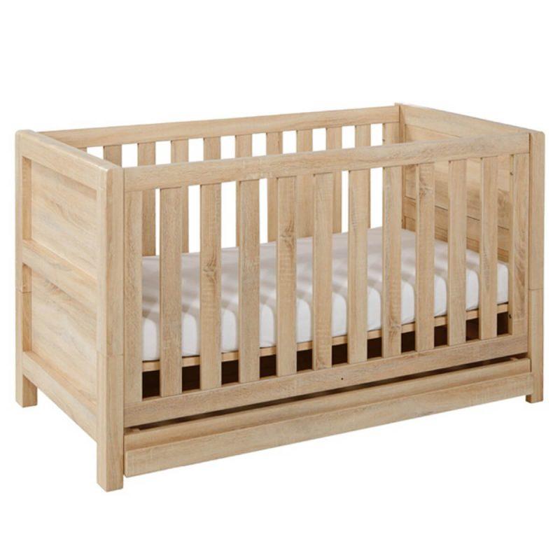 Tutti Bambini Milan Cot Bed Light Oak