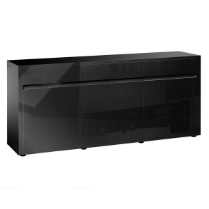 Urbana Sideboard Black High Gloss 3 Door 3 Drawer