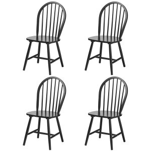 Vermont Boston Dining Chairs Black Wooden