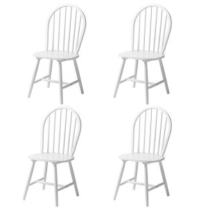Vermont Boston Dining Chairs White Wooden