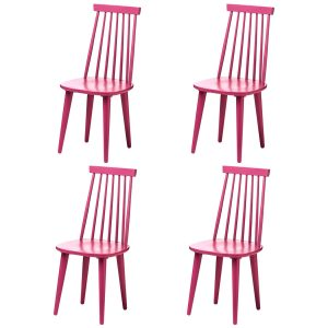 Vermont Herning Multi Colour Dining Chairs Raspberry Pink