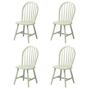 Vermont Boston Dining Chairs Pastel Green Wooden