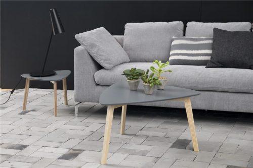 Vitis Lamp Table Dark Grey Lacquered & Ash 2