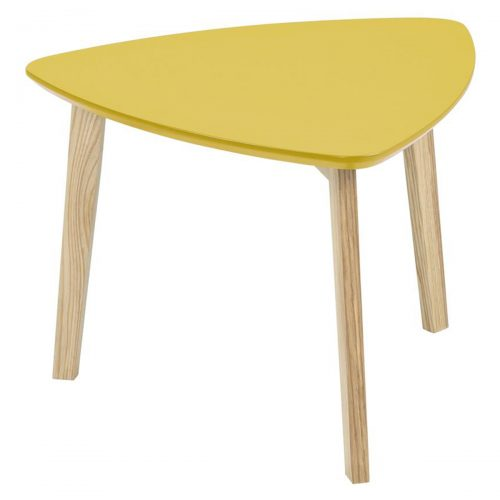 Vitis Lamp Table Yellow Lacquered & Ash
