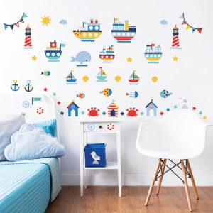 Walltastic Nautical Sticker Set 4