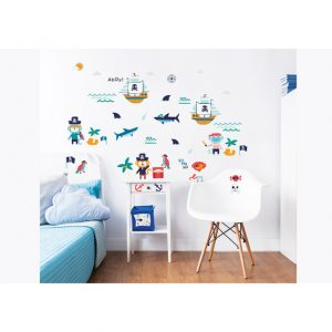 Walltastic Pirate Childrens Room Decor Stickers 1