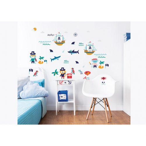 Walltastic Pirate Childrens Room Decor Stickers 1