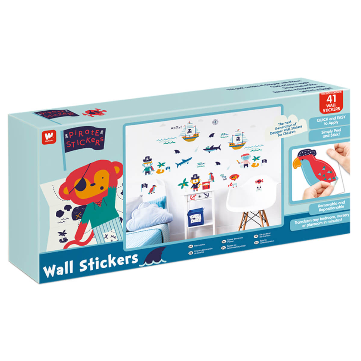 Walltastic Childrens Pirate Wall Stickers
