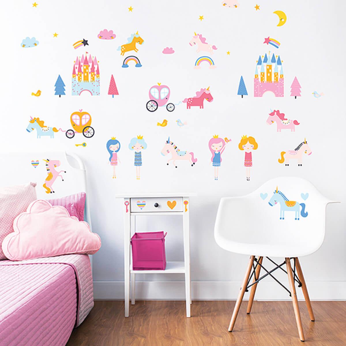 Walltastic Unicorn Kingdom Room Stickers Unicorn Wall