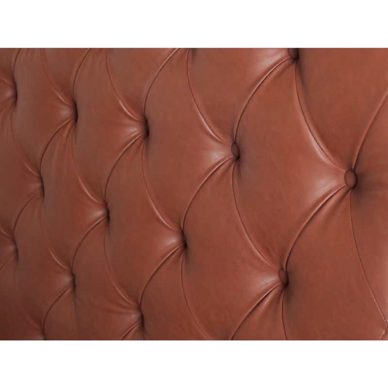 Windsor Bed Frame With Tall Headboard Faux Leather Brown 5