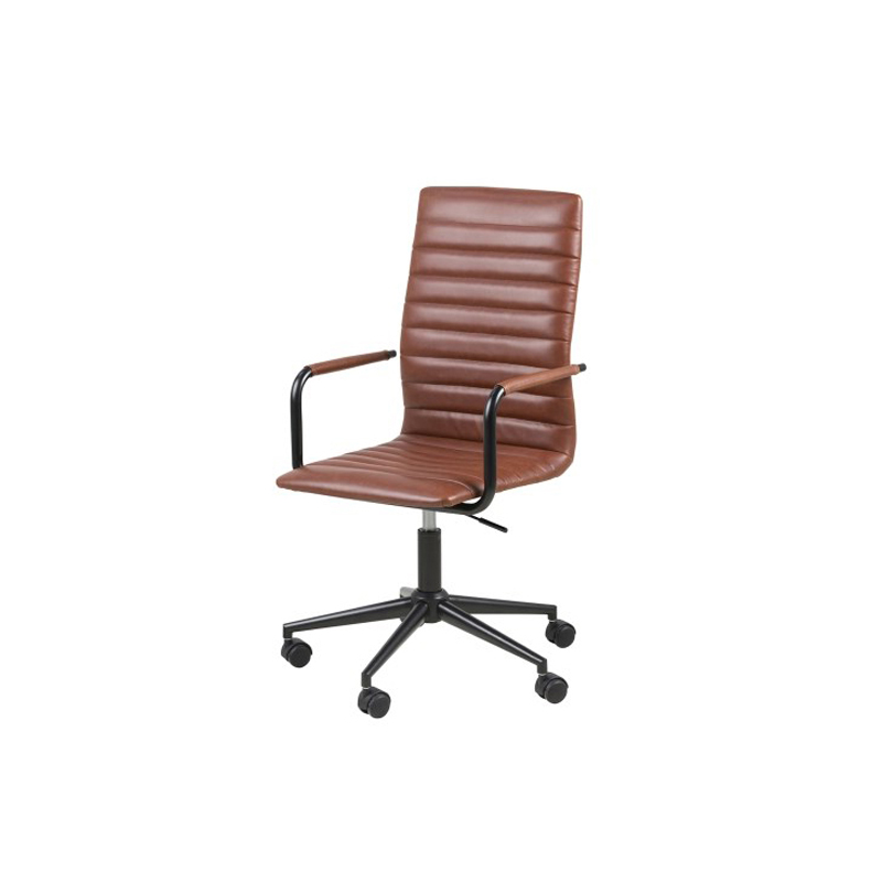Winslow Office Chair Vintage Brandy Faux Leather
