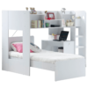 Wizard Bunk Bed With Storage Shelves White 2