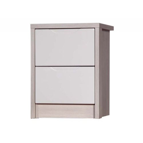 april-champagne-and-sand-2-drawer bedside table