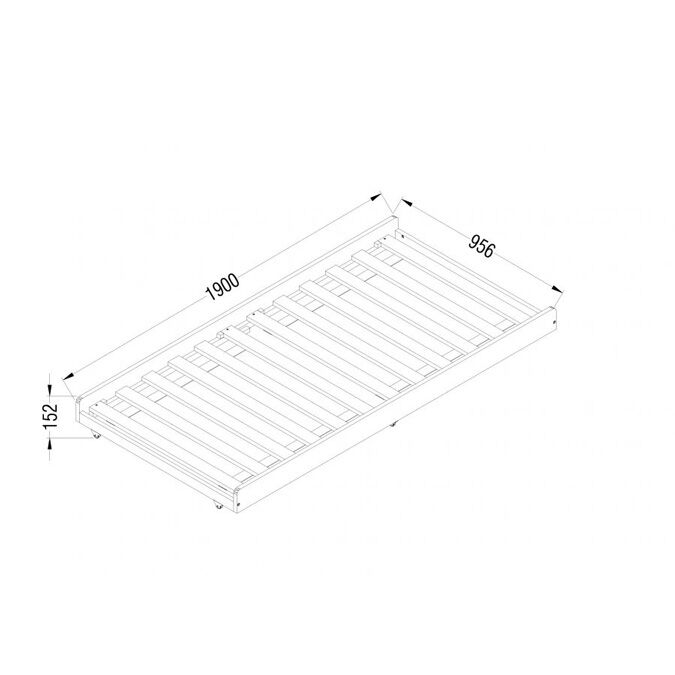 Bloomsbury White Daybed Trundle Dimensions
