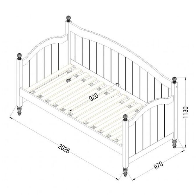 Bloomsbury White Daybed Dimensions