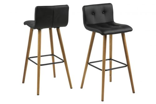 Frida Bar Stool Black & Oak