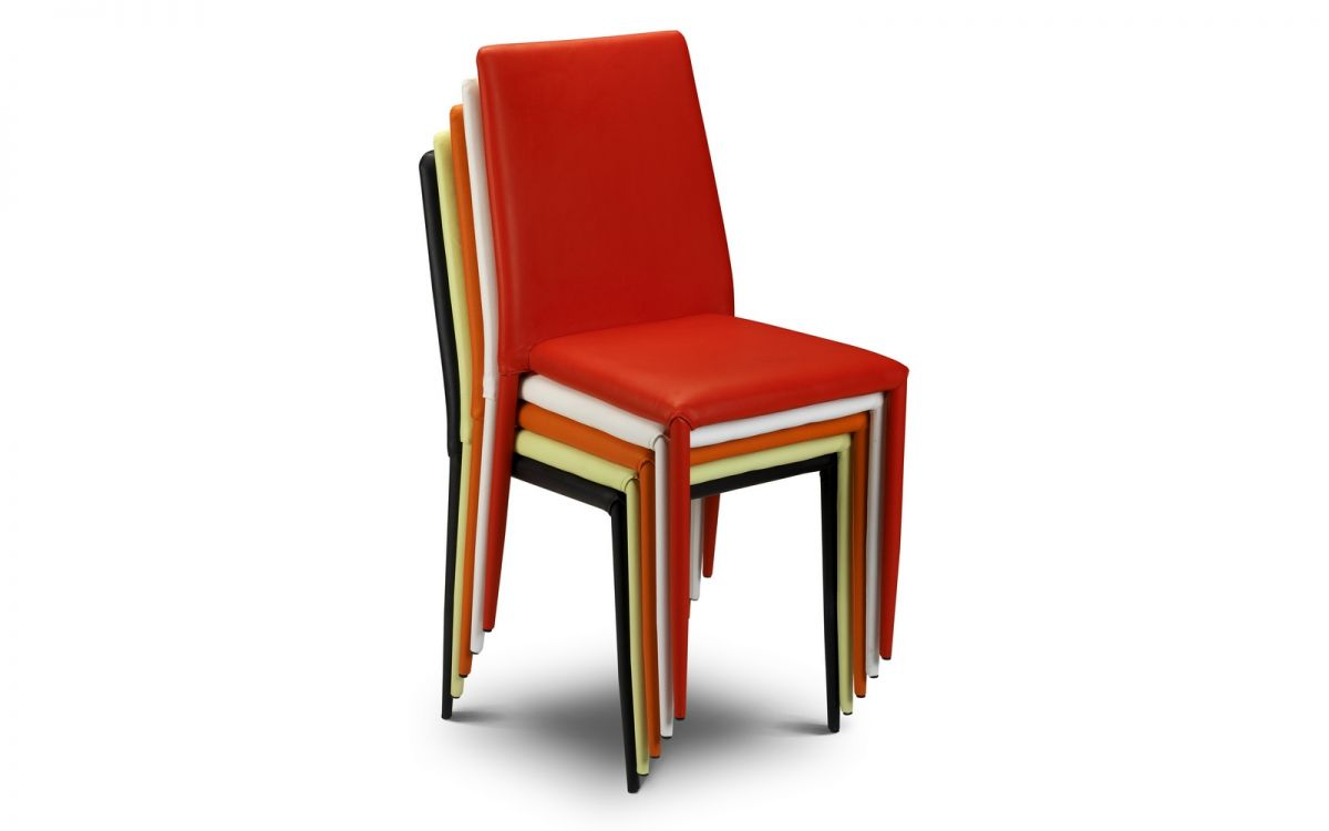 Jazz Red Stacking Chairs 1