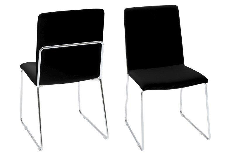 Kitos Black Dining Chairs & Chrome 1