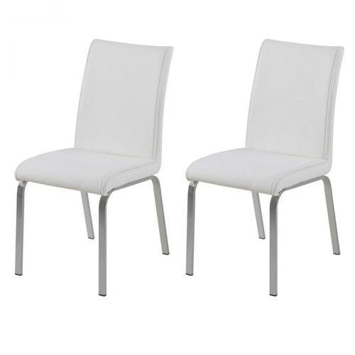Leonora White Faux Leather Chairs
