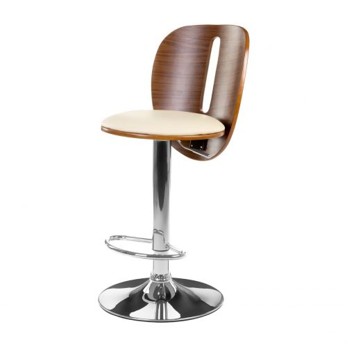 Marley Cream & Bentwood Bar Stool