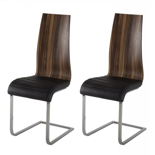 Messina Walnut Dining Chair Pair