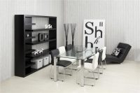 Milla White Faux Leather Dining Chairs 2