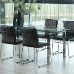 Milla Black Faux Leather Dining Chairs 1