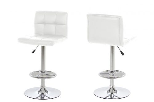 Milla Faux White Bar Stool 1