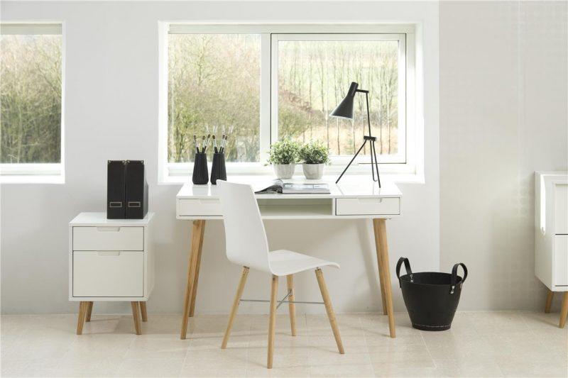 Milton Pair of White Eames Style Chairs 5
