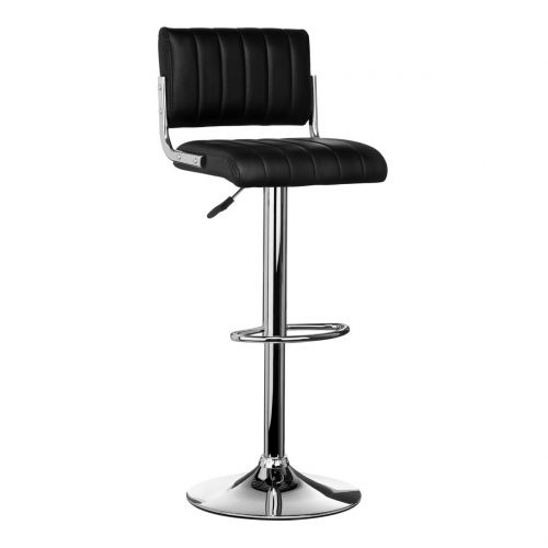 Neo Black Faux Leather Bar Stool