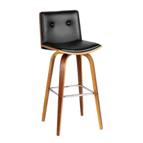 Prime Buttoned Black Bar Stool