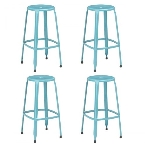 Rainbow Blue Bar Stools Pack of 4