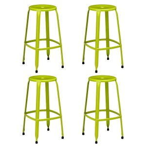 Rainbow Green Bar Stool Pack of 4