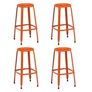Rainbow Orange Bar Stools Pack of 4