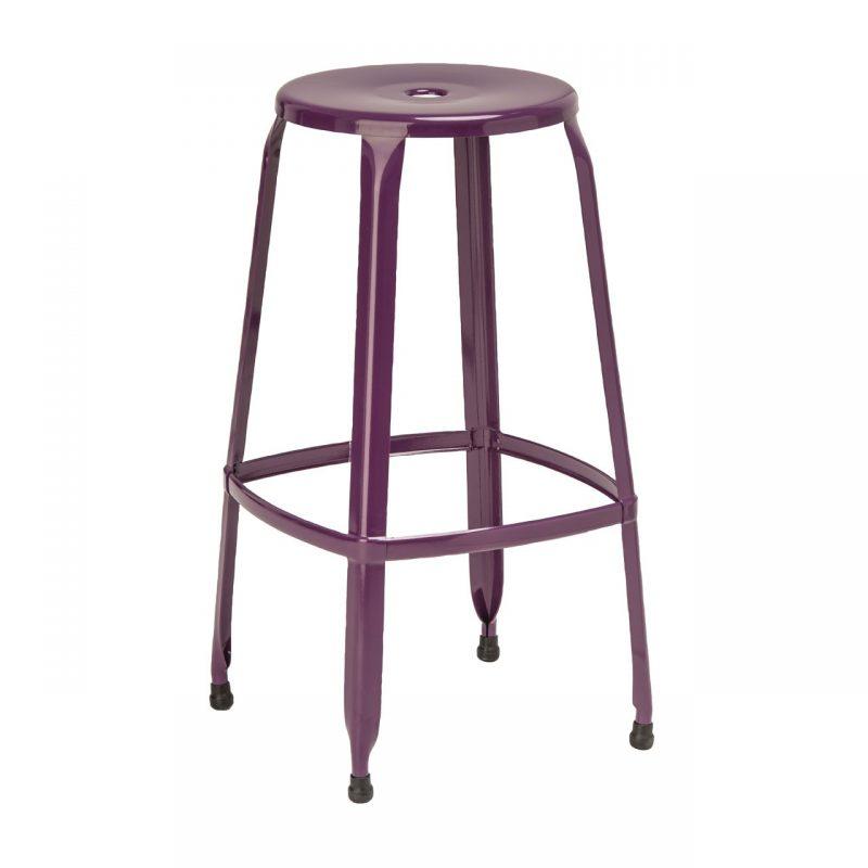 Rainbow Purple Bar Stool