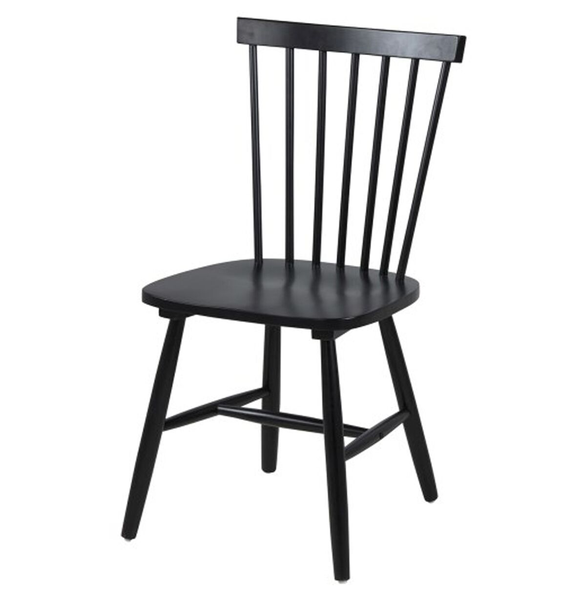 Riano Slatted Black Dining Chair
