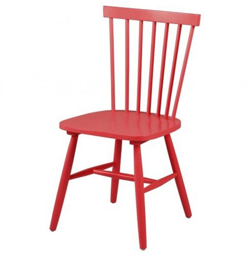 Riano Slatted Red Dining Chair