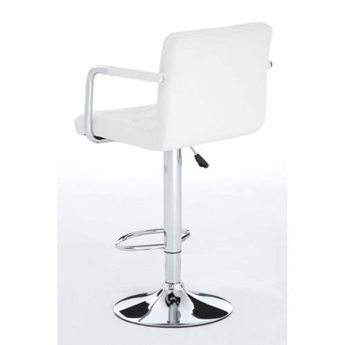 Stars White Faux Leather Bar Stool 7