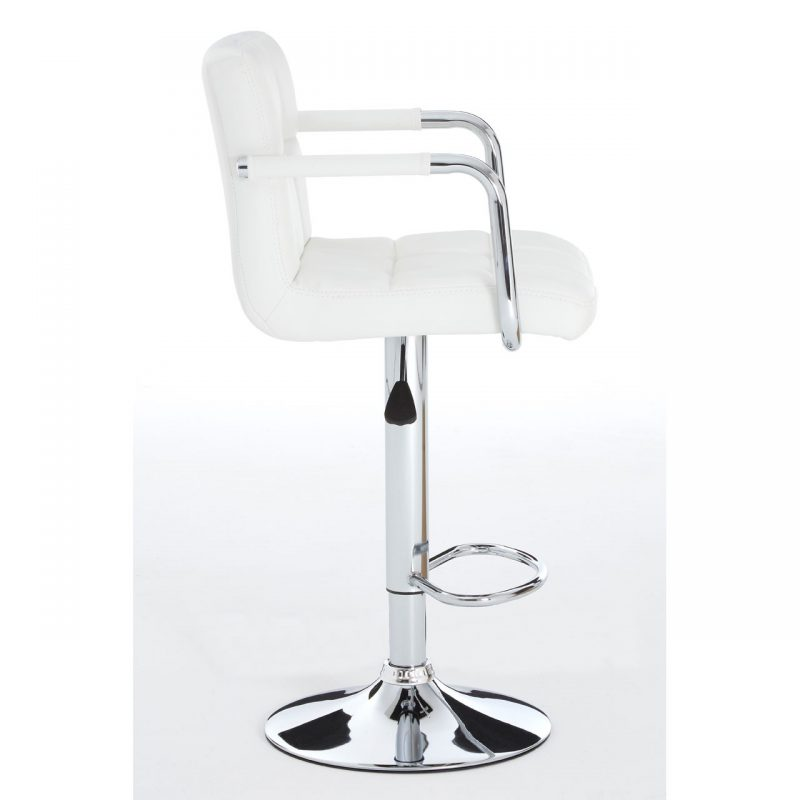 Stars White Faux Leather Bar Stool 6