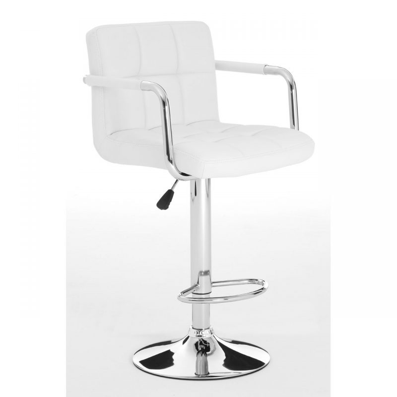 Stars White Faux Leather Bar Stool 5