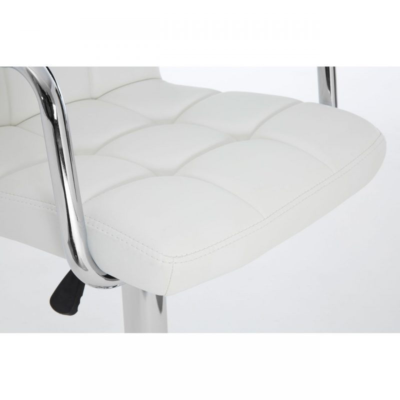 Stars White Faux Leather Bar Stool 4