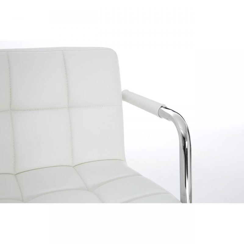 Stars White Faux Leather Bar Stool 2
