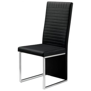 Tempo Dining Chair Faux Leather Black