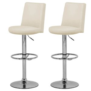 Tina Bar Stool Cream Faux Leather