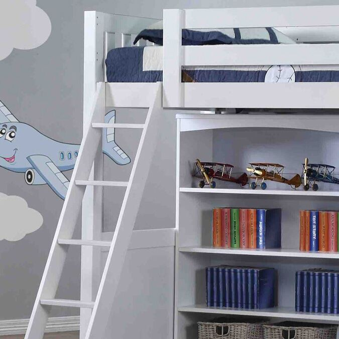 Willow White High Sleeper Ladder