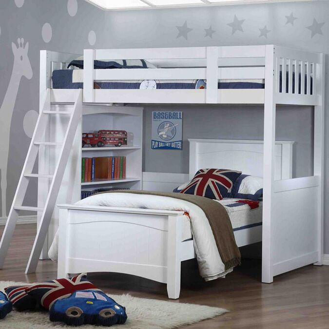 Willow White High Sleeper With Single Bed