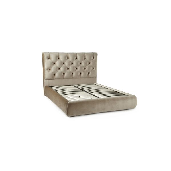 Alexandra Gold Fabric Bed Frame 2
