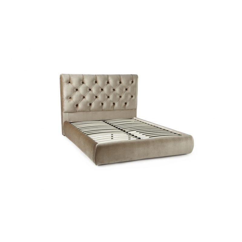 Alexandra Gold Fabric Bed Frame 2