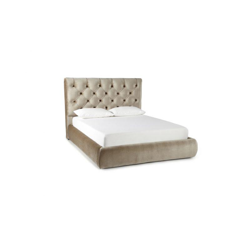 Alexandra Gold Fabric Bed Frame